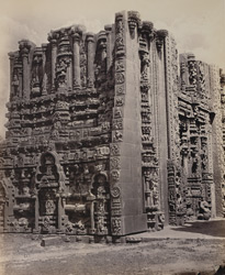 Tarputry [Tadpatri]. Temple in ruins near the river. Carving on the S. and E. sides of base of northern tower